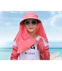 verano femenino nuevo sol transpirable sombrero rojo