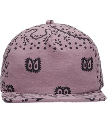rhude hats in rose-pink cotton