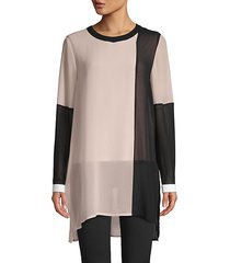 colorblock long-sleeve tunic