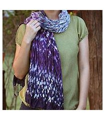 tie-dyed scarf, 'fabulous lily' (thailand)