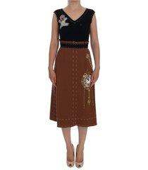 crystal bear key clock wool dresss
