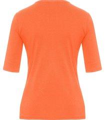 shirt model velvet van 100% katoen met ronde hals van bogner oranje