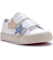 zapatilla blanca kickers glow con estrellas