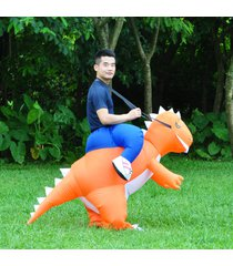 adult inflatable costume t-rex dinosaur suit blowup halloween fancy dress outfit