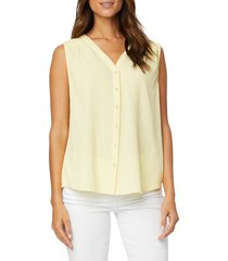 nydj smocked detail gauze tunic, size x-small in ydaisy at nordstrom
