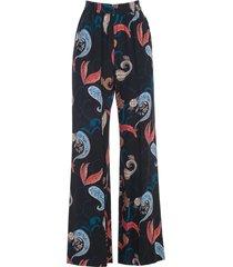 see by chloé pants flared elastic waist fantasy