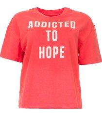 katoenen t-shirt met opdruk elie  rood
