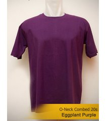 best men's classic o-neck plain eggplant purple tshirt 100% cotton blank tee