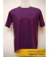best men's classic o-neck plain eggplant purple tshirt 100% cotton blank tee