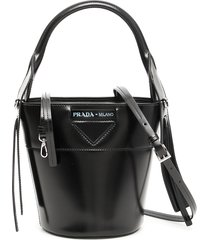 prada leather ouverture bucket bag