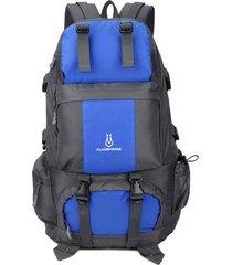 mochila/ alpinismo exterior de viaje impermeable de-azul
