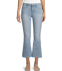 le cropped mini bootcut jeans