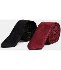 mens black and burgundy tie multipack