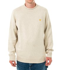 lyle and scott maglione uomo funnel roll top knitted jumper kn1365v.w116