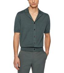 boss men's hemilio short-sleeved cardigan