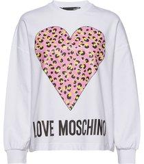 love moschino sweatshirt sweat-shirt tröja vit love moschino