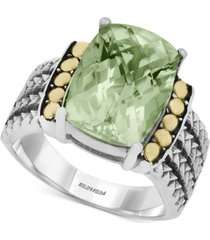balissima by effy green quartz (5-3/4 ct. t.w.) ring in 18k gold and sterling silver