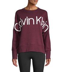 overized logo sweatshirt