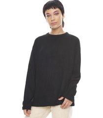 sweater oversize negro  corona