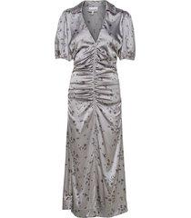 dress maxiklänning festklänning grå ganni