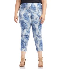 plus size women's karen kane palm leaf print piper pants