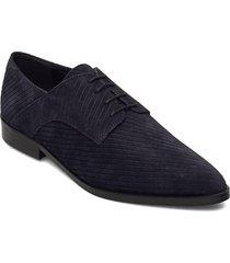 biabrenda suede cord derby snörade skor låga blå bianco