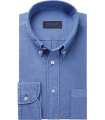 overhemd profuomo blauw originale