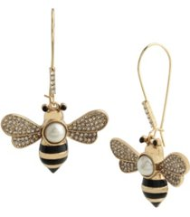betsey johnson bee dangle earrings