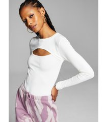 and now this women's chest-cutout sweater