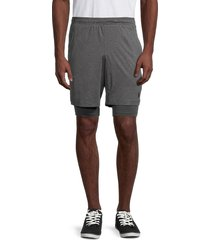 spyder men's double-layer shorts - charcoal - size s