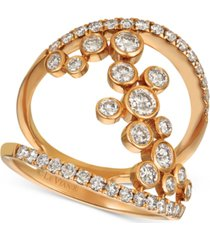 le vian diamond statement ring (1-1/4 ct. t.w.) in 14k rose gold