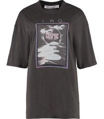 iro printed cotton t-shirt