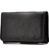 carteira de couro menor hendy bag preta porta-cartões