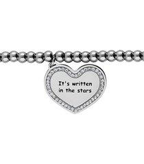 bracciale 'it's written in the stars' in acciaio e strass per donna