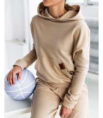 bluza oversize dresowa nude carmel