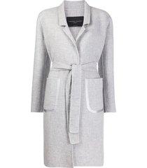 fabiana filippi belted cashmere coat - grey