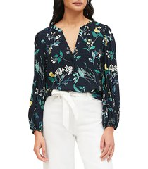 blusa azul navy-multicolor banana republic