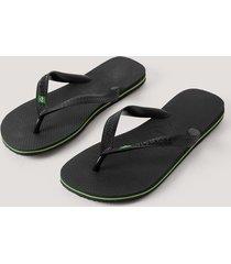 havaianas havaianas brazil flip flop - black