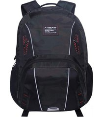 mochila porta laptop niro negra gris oscuro head