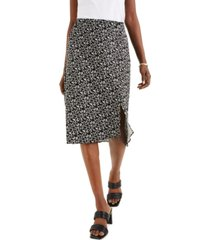 alfani abstract-print midi skirt, created for macy's