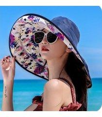 protector solar salvaje para mujer, sombrero para el sol azul