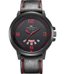 orologi da uomo impermeabili in pelle per orologi da uomo al quarzo 30m