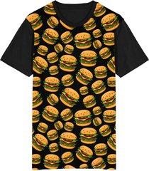 camiseta tshirt migian burgers sublimada preto