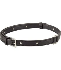 cinturón negro/plata animalista