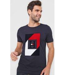 camiseta tommy hilfiger logo azul-marinho - azul marinho - masculino - algodã£o - dafiti