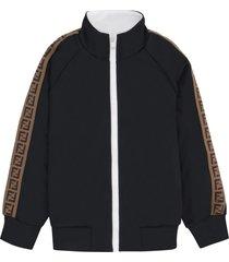 fendi full zip sweatshirt with side stripes