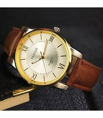reloj hombres para hombre impermeable para hombre-marrón