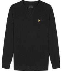 lyle and scott ml424vtr lyle&scott crew neck sweatshirt, z865 jet black