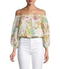 astr the label women's danya floral off-the-shoulder top - floral multi - size l