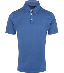 azure man polo shirt in jersey